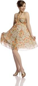 Sukienka Fokus midi w stylu boho z dekoltem w kształcie litery v