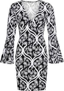 Sukienka bonprix BODYFLIRT boutique z dekoltem w kształcie litery v mini w stylu glamour