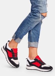 Wielokolorowe buty damskie z płaską podeszwą DeeZee