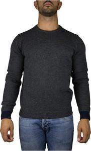 Czarny sweter Sun68 w stylu casual z dżerseju