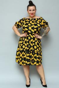 Sukienka KARKO dla puszystych z tkaniny midi