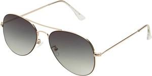 Złote okulary damskie Selected Femme