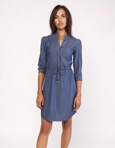 Sukienka Lanti z tkaniny mini z długim rękawem