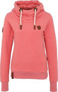 Różowa bluza Naketano krótka w sportowym stylu