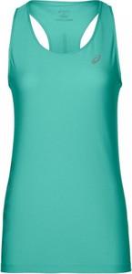 Zielona bluzka ASICS z okrągłym dekoltem w sportowym stylu