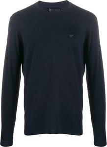 Niebieski t-shirt Emporio Armani w stylu casual z bawełny