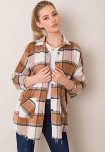 Brązowa koszula Sheandher.pl w stylu casual