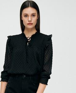 Bluzka Cropp w stylu casual z długim rękawem z tkaniny