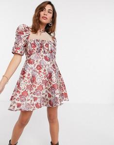 Sukienka Asos z żakardu mini