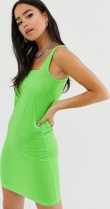 Zielona sukienka Noisy May na ramiączkach mini