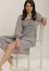 Sukienka Renee z okrągłym dekoltem mini z długim rękawem