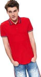 Czerwona koszulka polo Top Secret z krótkim rękawem