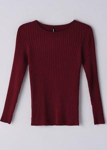 Czerwony sweter Cropp w stylu casual