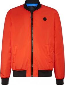 Pomarańczowa kurtka Philipp Plein w stylu casual krótka