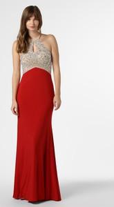 Czerwona sukienka Mascara bez rękawów maxi