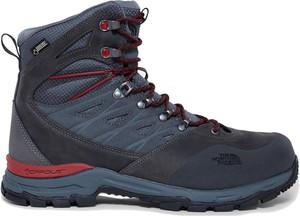 Niebieskie buty zimowe The North Face z nubuku sznurowane