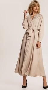 Sukienka Renee z długim rękawem szmizjerka maxi
