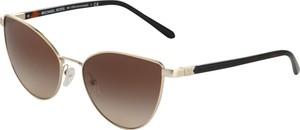 Złote okulary damskie Michael Kors