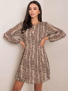 Brązowa sukienka Sheandher.pl w stylu casual mini