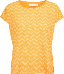Żółty t-shirt InWear z krótkim rękawem