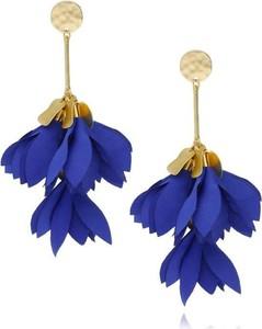 BLOSSOM Kolczyki satynowe kwiaty - chabrowy Blossom KBL0127