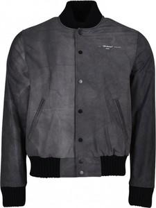Czarna kurtka Off White w stylu casual