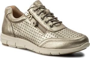 Beżowe buty sportowe caprice