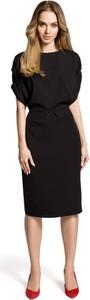 Sukienka MOE z okrągłym dekoltem midi ołówkowa