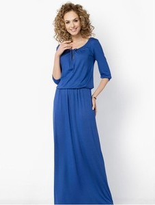 Niebieska sukienka Meleksima maxi