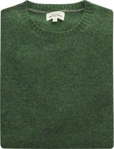 Zielony sweter Hartford z dżerseju w stylu casual z okrągłym dekoltem