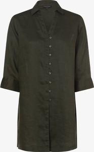 Zielona bluzka Franco Callegari z długim rękawem w stylu casual z lnu