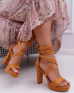 Brązowe sandały Ps1 z klamrami
