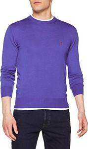 Niebieski sweter Slam w stylu casual