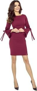 Czerwona sukienka Pawelczyk24.pl ołówkowa z okrągłym dekoltem