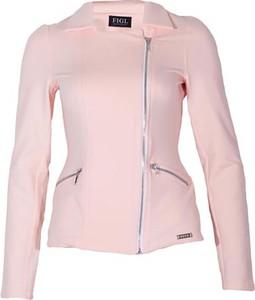 Różowa kurtka Figl z bawełny