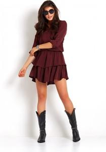 Sukienka Ivon w stylu casual mini koszulowa