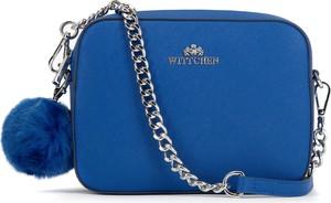 Niebieska torebka Wittchen ze skóry średnia matowa