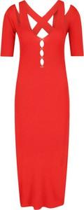 Czerwona sukienka Versace Jeans dopasowana