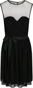 Czarna sukienka Liu-Jo mini z okrągłym dekoltem