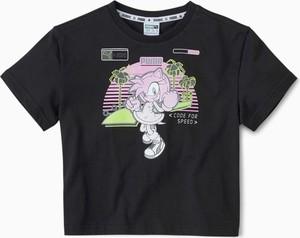 T-shirt Puma z okrągłym dekoltem z krótkim rękawem w młodzieżowym stylu