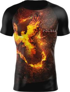 Czarny t-shirt Vision Wear Sport z tkaniny z krótkim rękawem