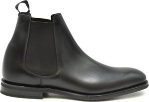Czarne buty zimowe Church's ze skóry
