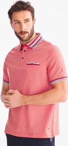 Różowa koszulka polo Westbury Premium z krótkim rękawem