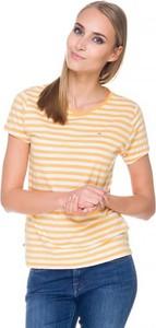 T-shirt Hilfiger Denim w młodzieżowym stylu z krótkim rękawem z okrągłym dekoltem