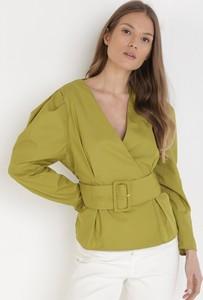 Zielona bluzka born2be z długim rękawem