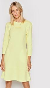 Żółta sukienka Joop! mini z długim rękawem