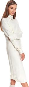 Sukienka Top Secret z długim rękawem w stylu casual prosta