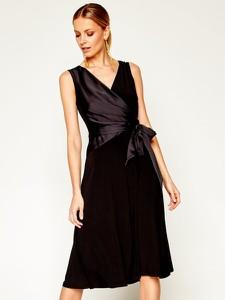 Sukienka Ralph Lauren bez rękawów z dekoltem w kształcie litery v midi