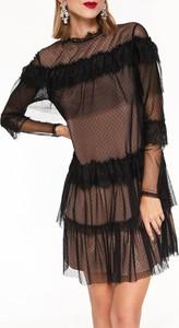Sukienka Top Secret z okrągłym dekoltem w stylu casual z długim rękawem