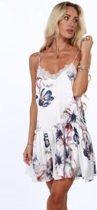 Sukienka Fasardi w stylu boho oversize z tkaniny